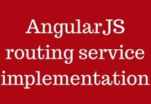 AngularJs routing service implementation