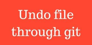 Undo file through git