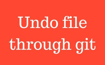 Undo file through git