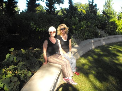Rhonda and I in the temple garden