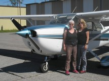 Rhonda and I and her plane