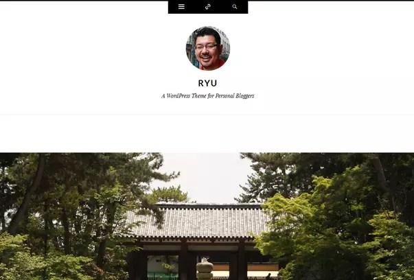 Ryu, Personal, Bloggers Free WordPress Theme by Automattic