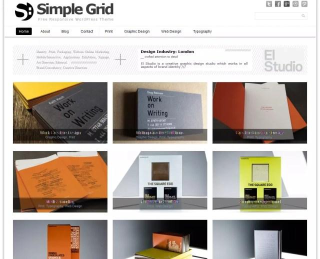 Simple Grid Premium Portfolio WordPress Theme 2012