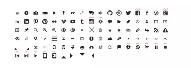 Genericons - icon font used in Twenty Thirteen