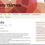 Red - Turqiuse Twenty Thirteen WordPress Child Theme