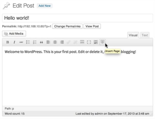 Insert Pages WordPress Plugin