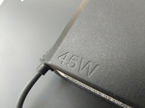 The 45W charger included witih the ThinkPad13 Chromebook that provides a lightning-fast charge.