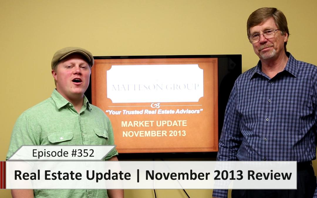 Real Estate Update – November 2013 Review – Episode 352