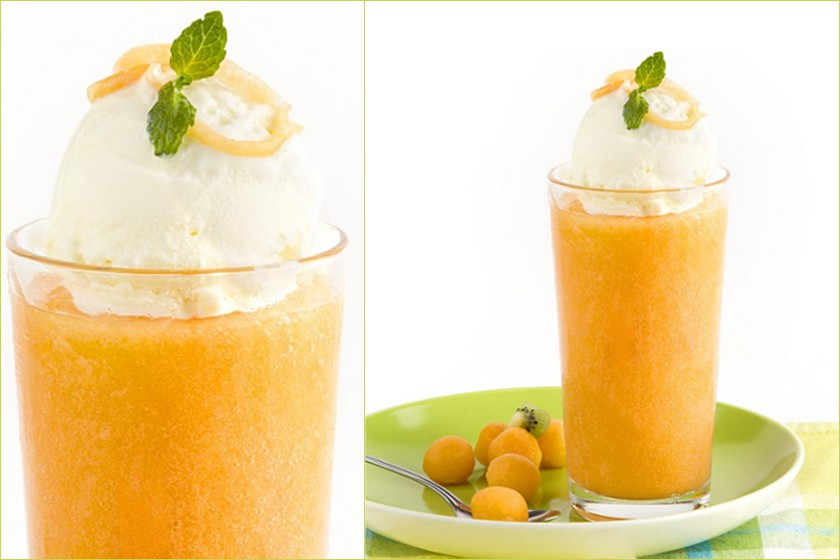 Cantaloupe Soda Float