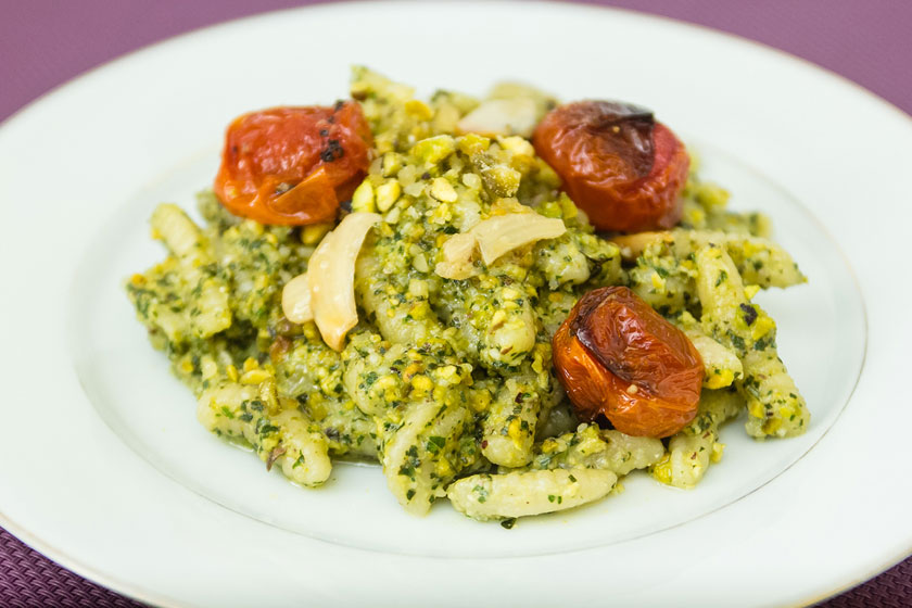 Cavatelli Pasta with Pistachio Pesto