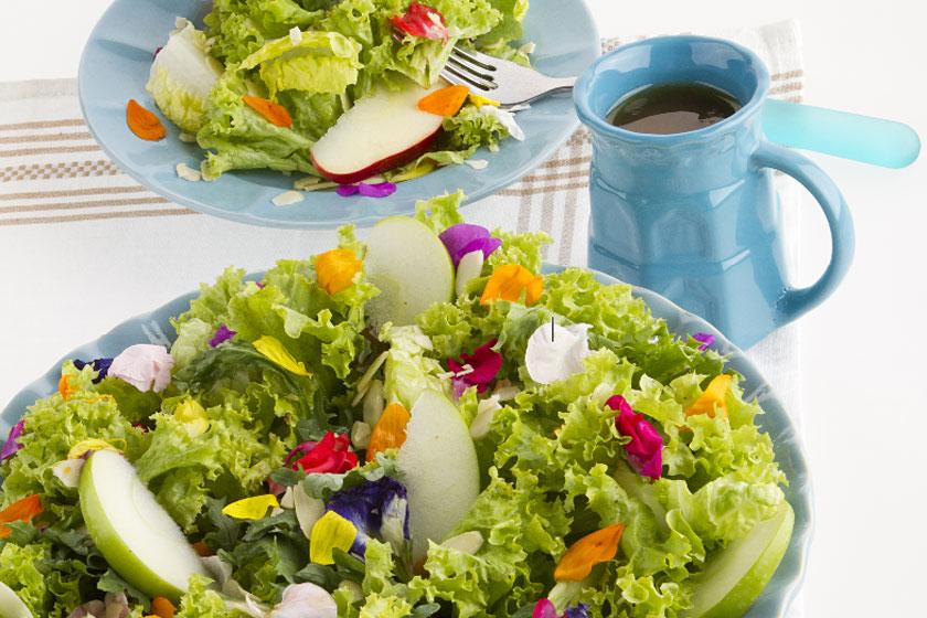 Fleur Salad with Orangey Vinaigrette
