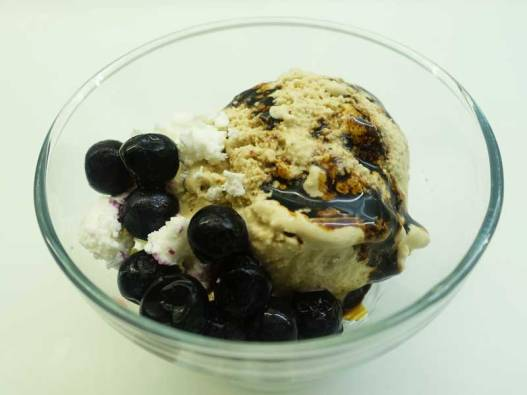 COCONUT ICE CREAM WITH BALSAMIC BLUEBERRY AND FETA CHEESE (2)