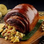Lechon Belly with Bacon Saffron Rice Stuffing