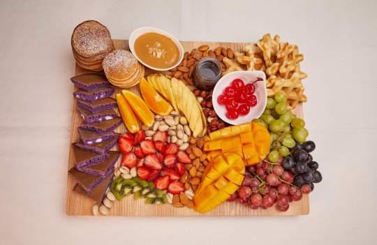 Fruit and Nut Hotcake Board