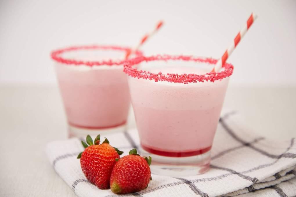Strawberry Ice Cream Yakult Slush