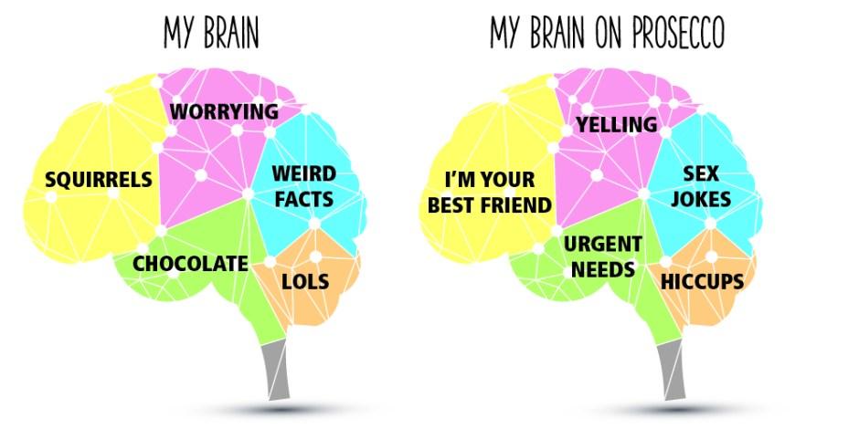 My brain on prosecco, polaroids and prosecco