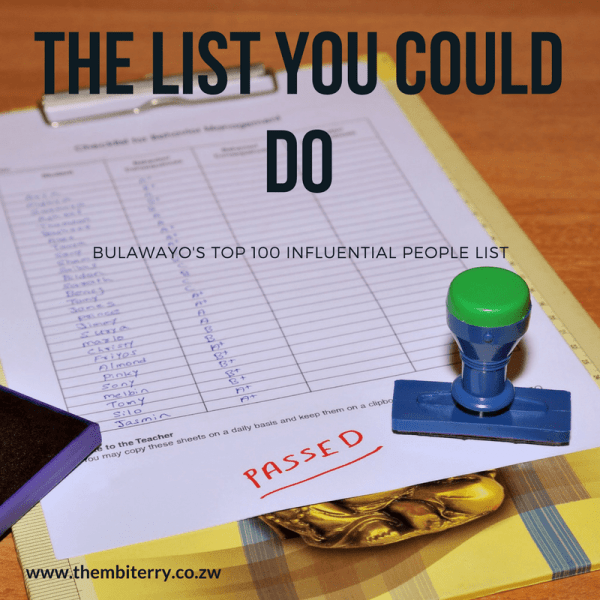 The LIST you could do