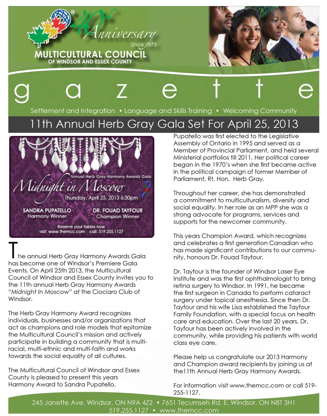 The Gazette - Spring Edition 2013
