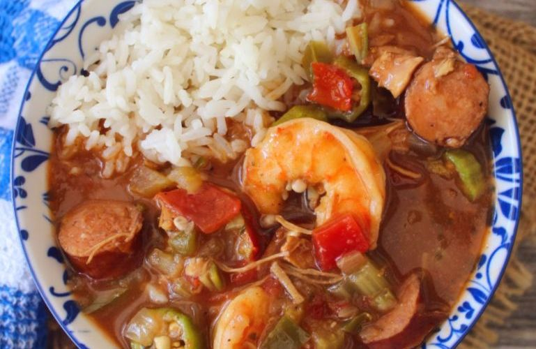 Authentic Creole Shrimp Gumbo