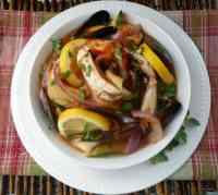 zuppa di pesce alla marsigliese - bouillabaisse marseillaise- Fish Soup of Marseilles