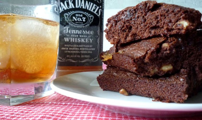 Jack Daniel's Pecan Caramel Fudge Brownies