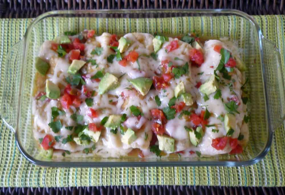 #Chicken #Enchiladas with #Verde Sauce