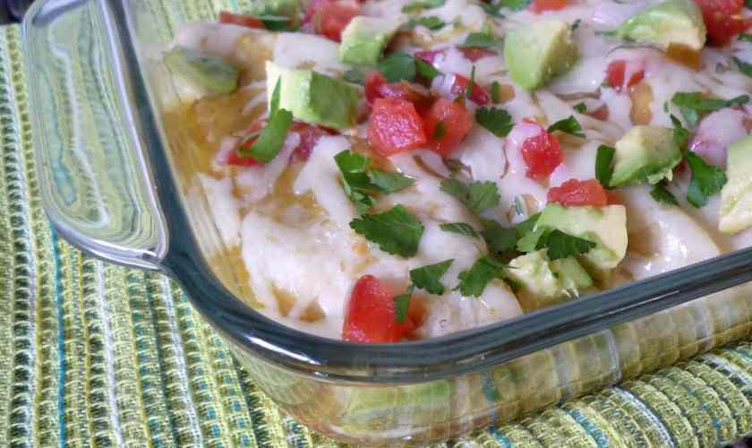 Chicken Enchiladas with Verde Sauce