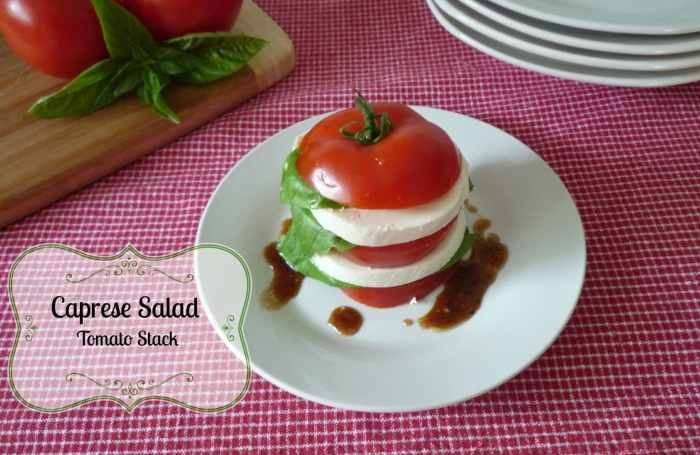 #Caprese #Salad #Tomato Stacks