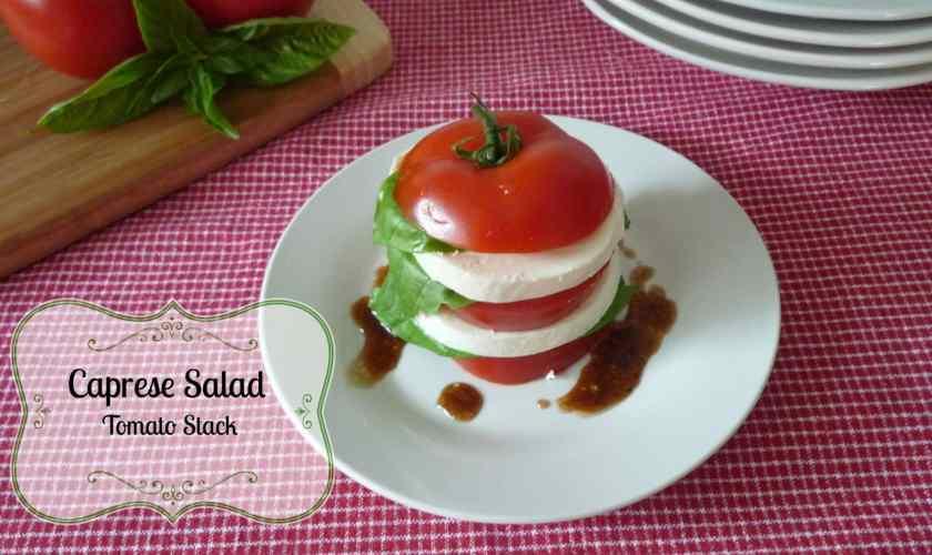 Caprese Salad Tomato Stacks