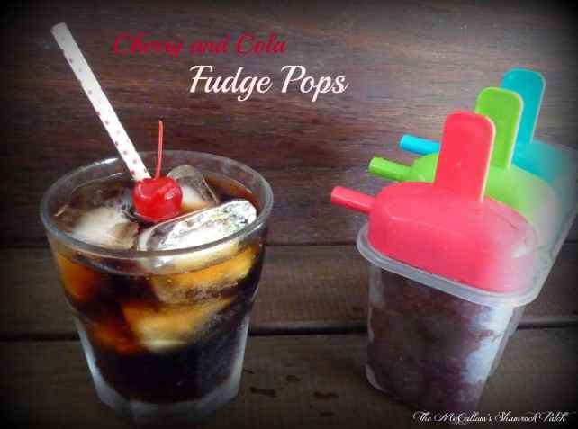 Cherry and cola Fudge Pops_Coke and Ice_Heidy L. McCallum_The McCallum's Shamrock Patch Blog