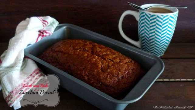 Dark and Rich Zucchini Bread