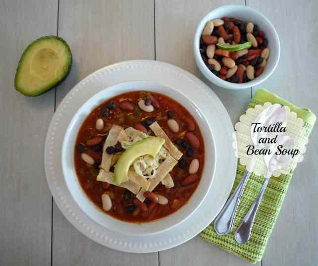 #Tortillia and #Bean #Soup