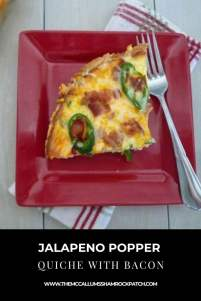 Jalapeno Popper Quiche with Bacon is a delicious recipe combining incredible ingredients of bacon, jalapenos, cream cheese, and cheddar cheese for the perfect breakfast or brunch.