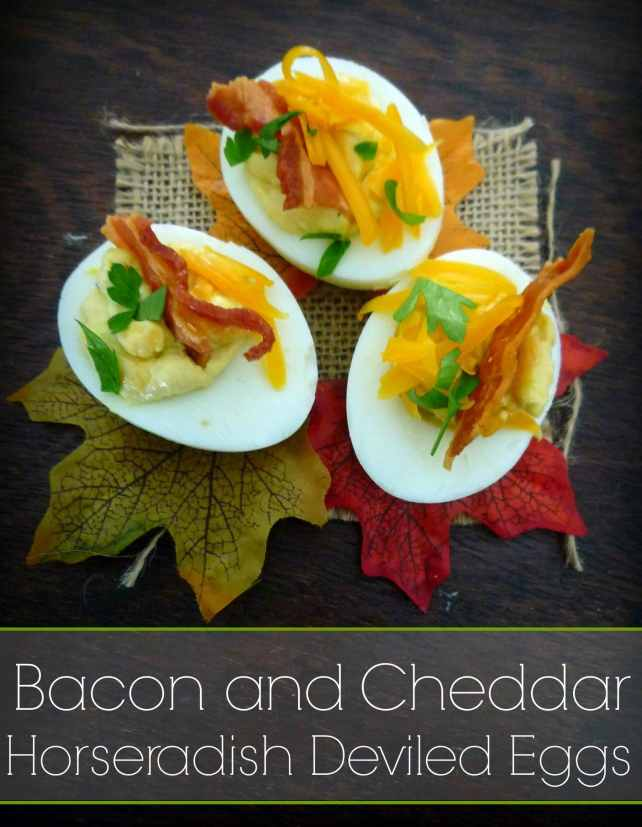 #Bacon #Cheddar #Horseradish #DeviledEggs