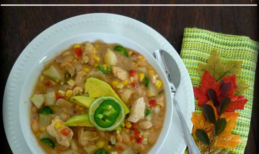 Southwestern Potato White Bean Chicken Soup