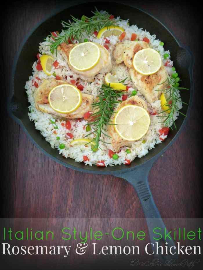 #Italian -Style #OneSkillet #Rosemary and #Lemon #Chicken
