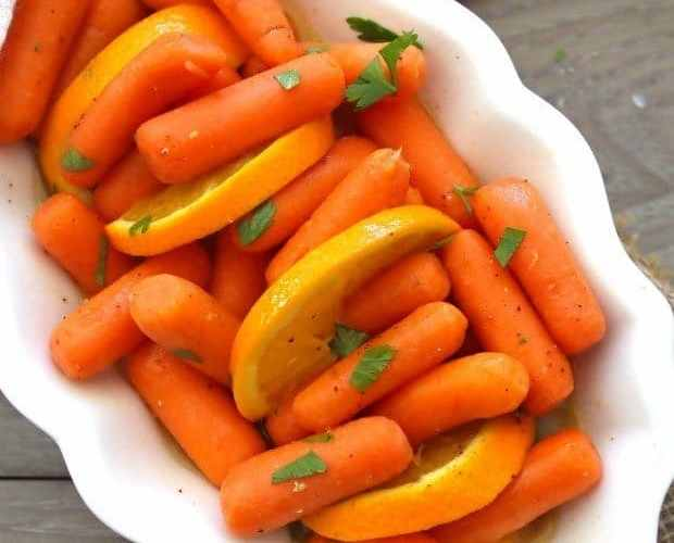 Honey & Orange Glazed Baby Carrots