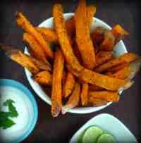 Cilantro Lime Sweet Potato Fries