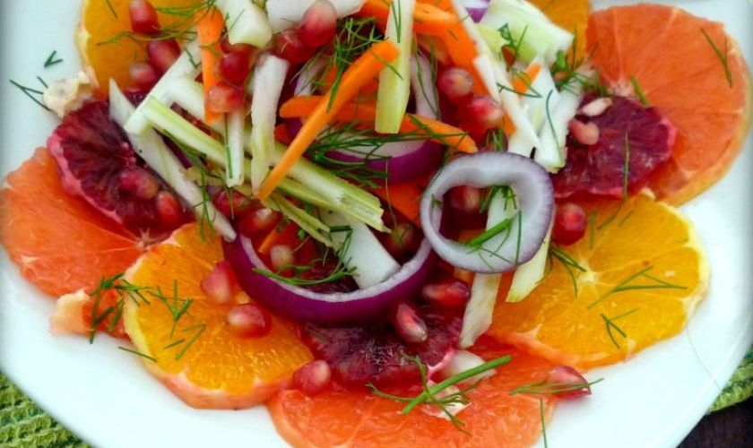 Fennel Citrus & Pomegranate Salad
