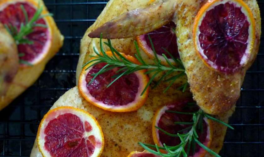 How-to Cut & Make Roasted Chicken + Roasted Chicken with Citrus and Rosemary Recipe