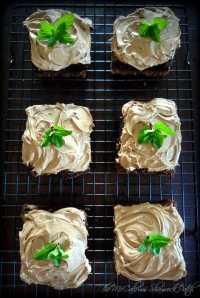 Irish Black & Tan Brownies are super easy to make by combining your favorite brownie mix with sinfully delicious milk chocolate, Guinness Stout, and Harp Lager topped with a fresh sprig of mint to create an original simple Irish Inspired treat for your guests this St. Patrick's Day Celebration.