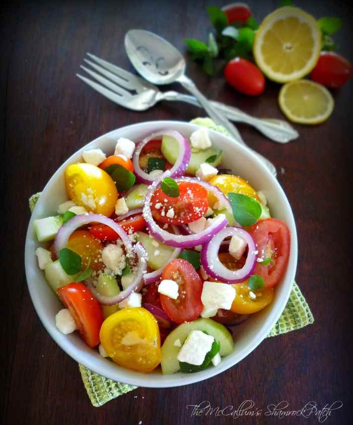 Tomato Feta and Mint Salad
