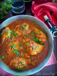 Chicken Cacciatore is 100% pure Italian rustic comfort food, right down to the braised chicken thighs, drumsticks, and sautéed red peppers with onions. Cooked to a pure Italian comfort food goodness in San Marzano tomatoes and quality dry red wine.