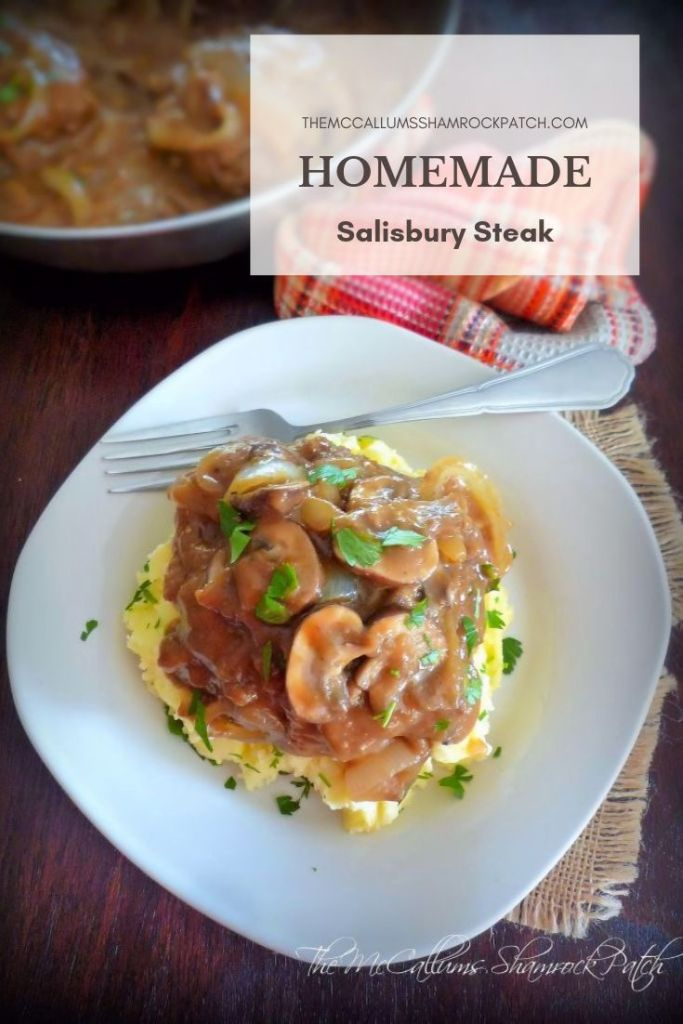 Homemade Salisbury Steak is the melt in your mouth, tender, comfort food from many childhood pasts. I can promise you it will never leave you feeling disappointed. This deliciously, rustic, comfort food has all the flavor you have looked for over the years. It's so simple and easy to make