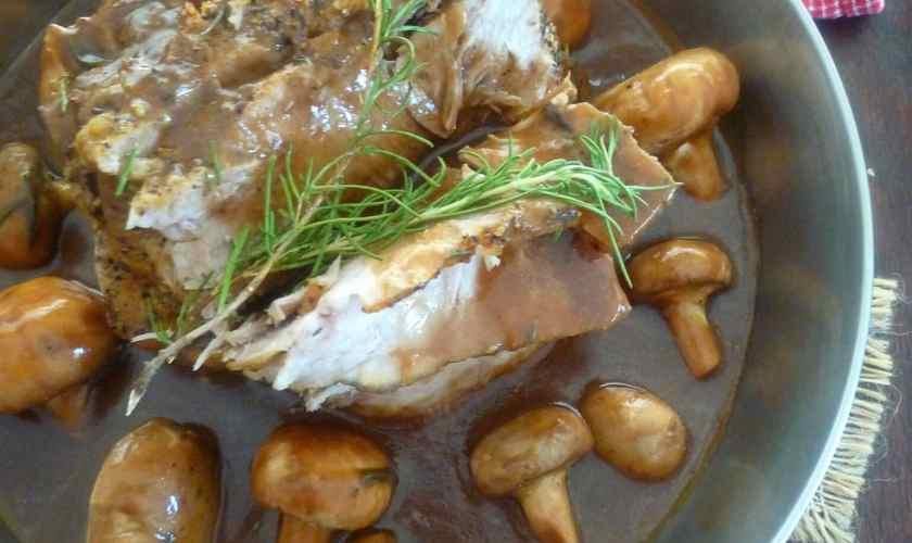 Pork Sirloin Roast with Marsala and Mushroom Sauce