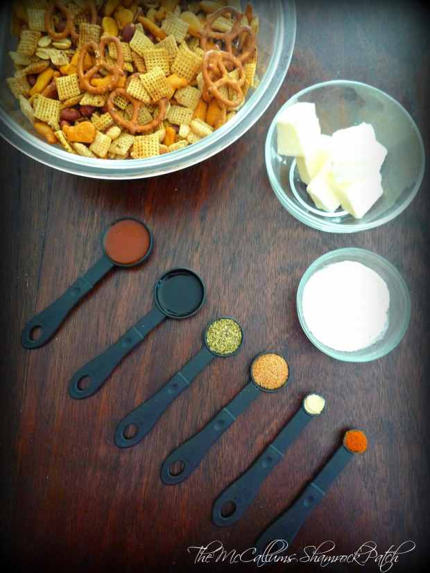 Cajun-Style Chex Party Mix Ingredients