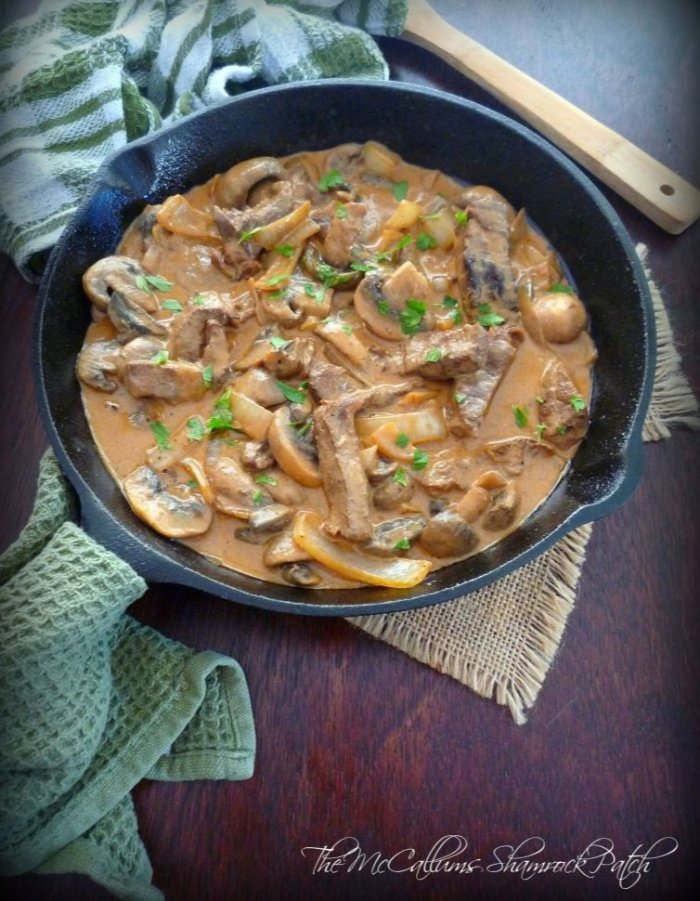 Creamy, delicious, and filling comfort food are the words that come to mind when I think of a Classic Beef Stroganoff