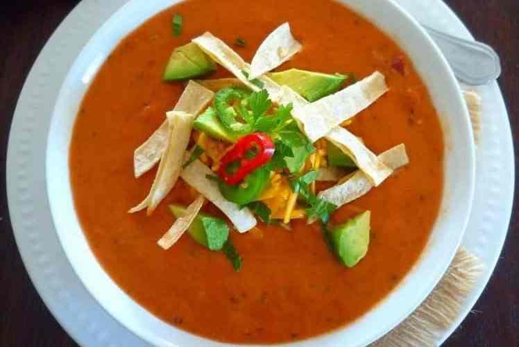 Creamy Homemade Mexican Tomato Soup