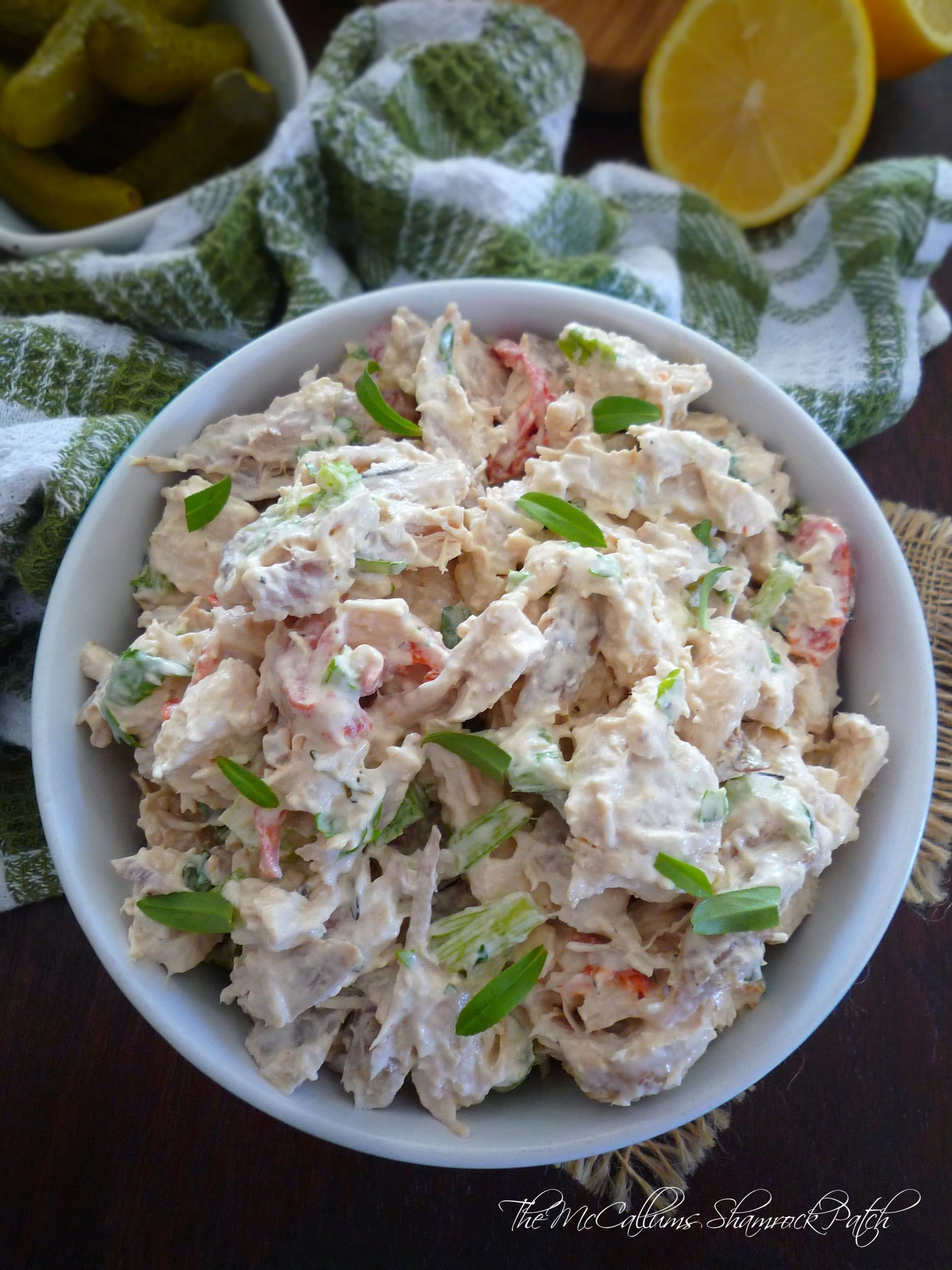 Lemony Tarragon Chicken Salad | The McCallum's Shamrock Patch
