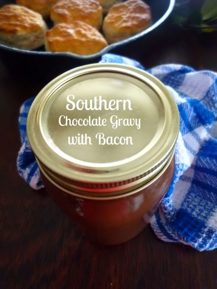 Southern Chocolate Gravy with Bacon is a delicious decadent Southern-Style gravy made from simple budget-friendly ingredients such as bacon drippings or butter, all-purpose flour, cocoa powder, sugar, milk, a pinch of salt, and smoky crumbled bacon to drive your taste buds over the edge.